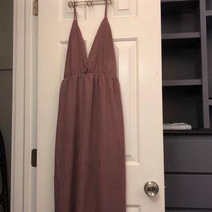 Tobi brand. Long dress with open back